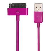 Pink Apple Charging Sync Cable
