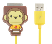 Cartoon monkey yellow Apple Cable