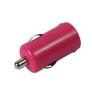 Pink USB car charger (High power) 1000mA