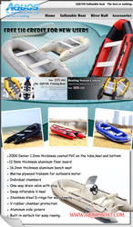 Aquos inflatable boat tender yacht dinghy kayak inflatable boats