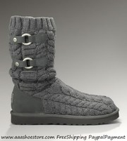 Sell Australia Tularosa Route Cable-Knit Tall Grey Boots Free shipping