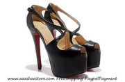 wholesale Christian Louboutin Exagona 160mm Peep Platform Leather Pump