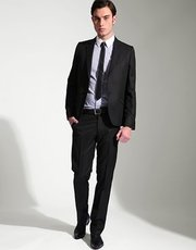 Mens fitted suit
