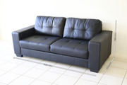 Black Faux Leather Sofa 2 Months Old